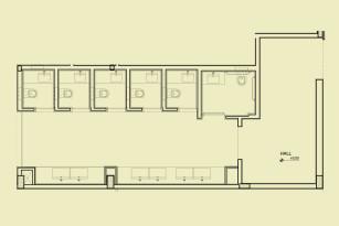 Pavimento 1 - Banheiro feminino