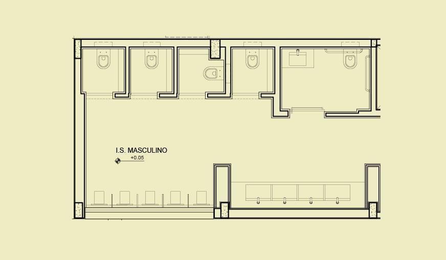 Casa Tua -> Banheiro Feminino E Masculino Planta