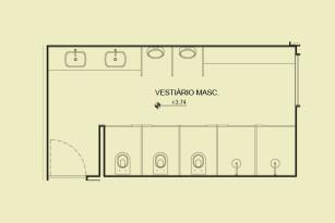 Pavimento 2 - Vestiário masculino